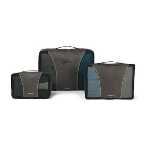 Samsonite 3 Piece Packing Cube Set Grey-Black
